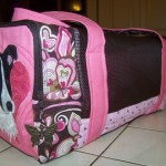 Side of border collie bag