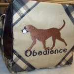 Opposite end of Rhodesian Ridgeback bag