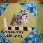 Opposite end of standard schnauzer bag