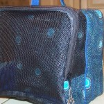 Mesh side of maltese bag